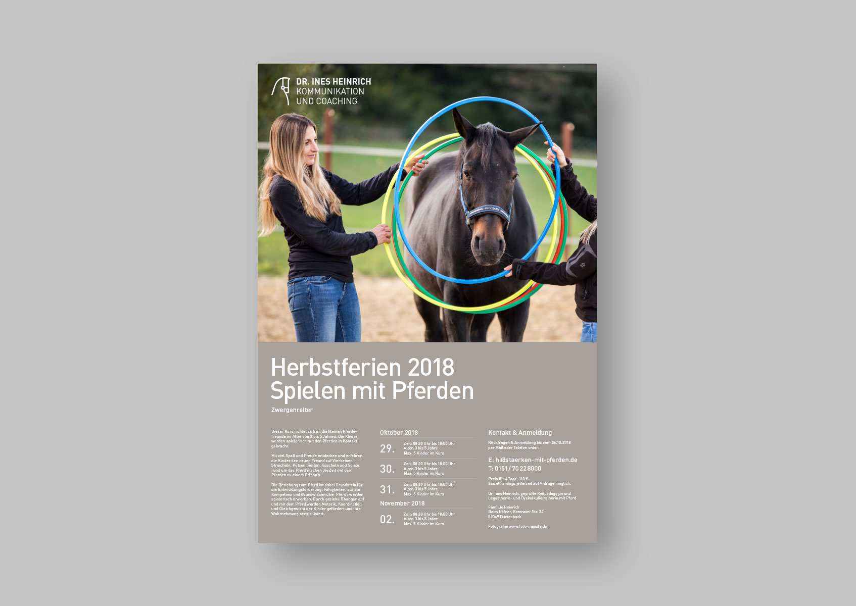 Herbstferien 2018: Lernen mit Pferden
